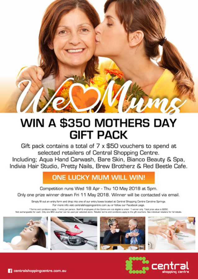 Win a $350 Mothers Day Gift Pack